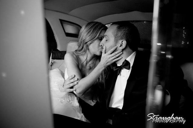Michelle wedding Houston Ousie's limo kiss