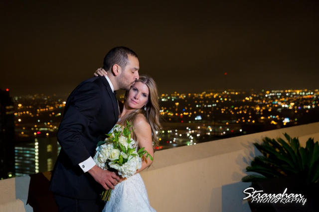 Michelle wedding Houston Ousie's hotel rooftop