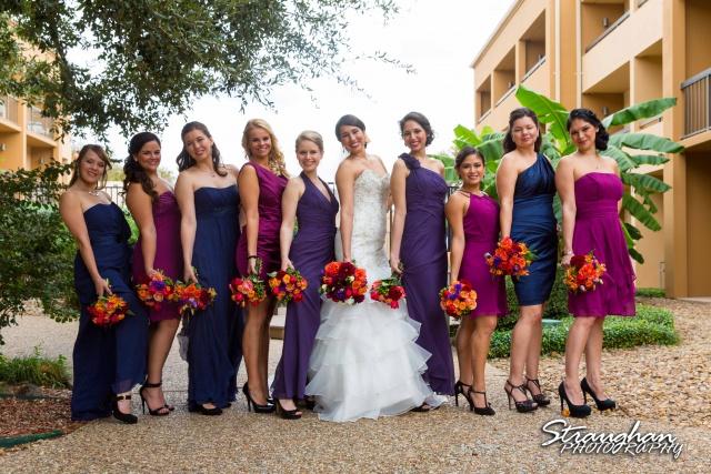 Alexis wedding Plaza Lecea bridesmaids