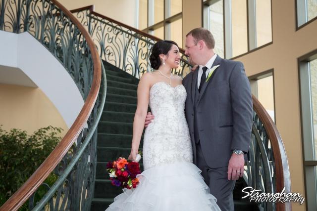 Alexis wedding Plaza Lecea stairs