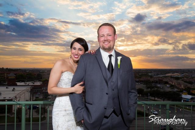 Alexis wedding plaza Lecia on the porch!