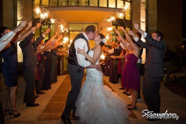 Alexis wedding Plaza Lecea sparkler kiss