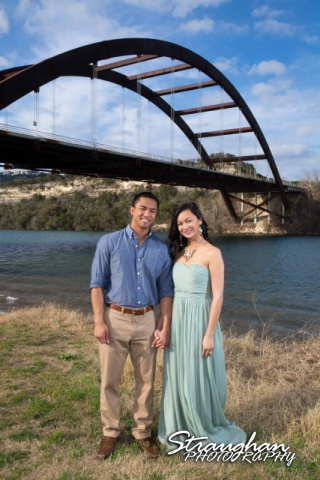 Rynah engagement Austin under the bridge