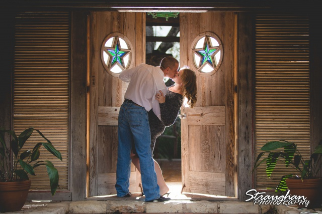Rhonda engagement sitting Gruene star doors