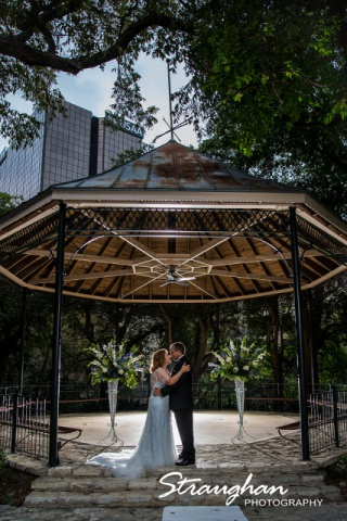Rebecca wedding Southwest School gazebo shot