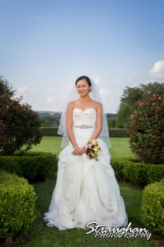 Rynah bridal Gardens of Cranesbury View in the gaden close up
