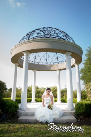 Rynah bridal Gardens of Cranesbury View in the gazebo