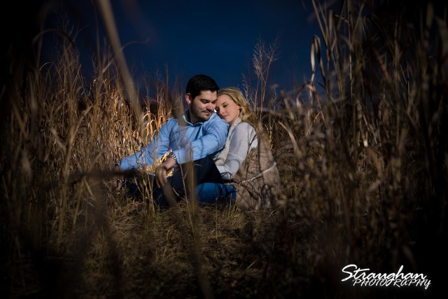 Sarah Higley engagement cibolo natural area in the wheat