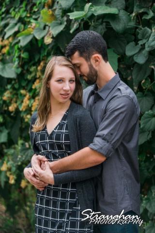 Skylar Engagement San Antonio Botanical Gardens holding her ivy