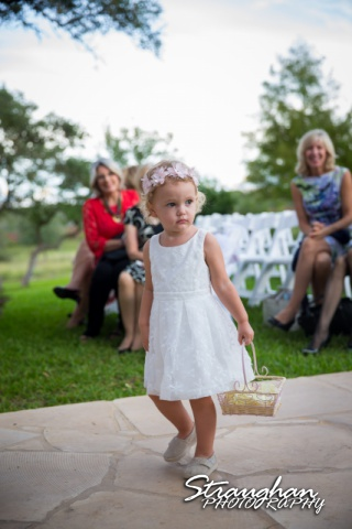 Sarah & Reagan's wedding the Springs in New Braunfels flower girl
