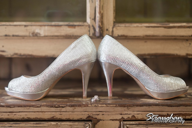 Sarah and Ryan Faithville wedding shoes and rings