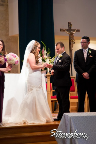 Stephanie wedding Holy Trinity Church ring exchange