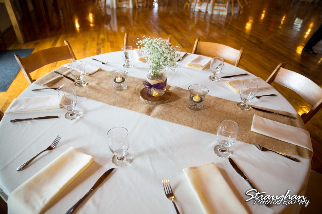 Jeanette wedding Boulder Springs Stonehaven centerpieces
