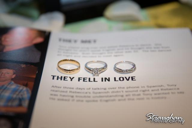 Tony Wedding Rio Plaza rings