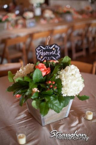 Teresa wedding Boulder Springs, Legacy hall centerpiece 2