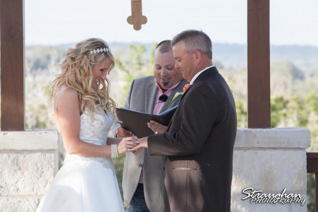 Teresa wedding Boulder Springs, Legacy hall ring exchange