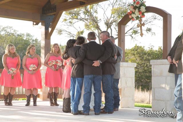 Teresa wedding Boulder Springs, Legacy hall family blessing