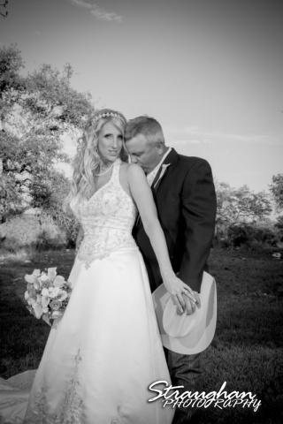 Teresa wedding Boulder Springs, Legacy hall the couple bw