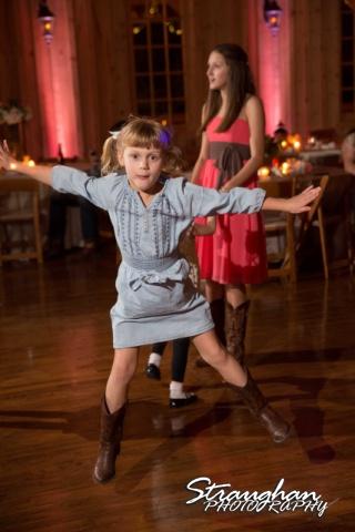 Teresa wedding Boulder Springs, Legacy hall flying kid