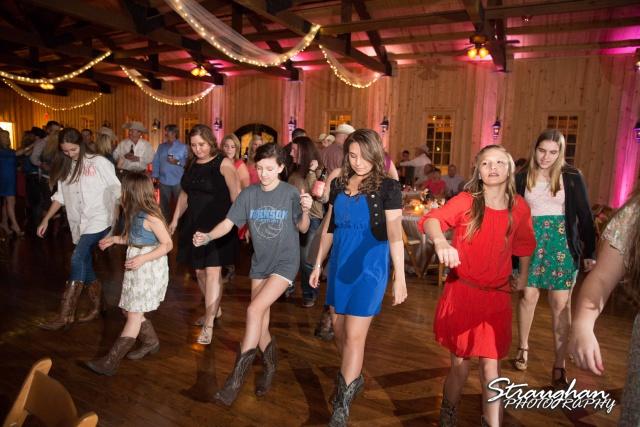 Teresa wedding Boulder Springs, Legacy hall partying