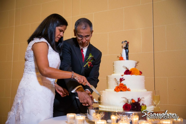 Ursula wedding JW Marriott Resort cake cutting