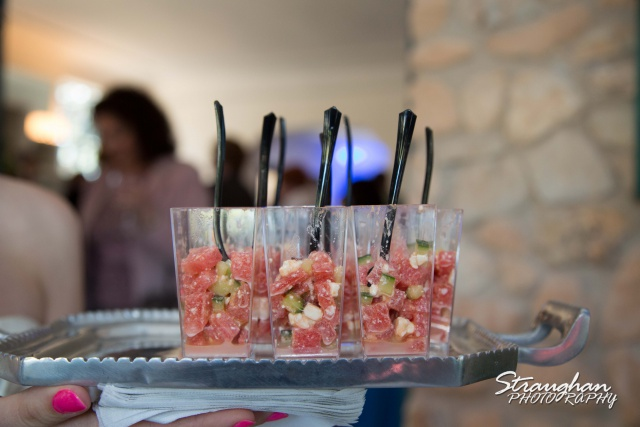 Watermelon appetizer at the Veranda
