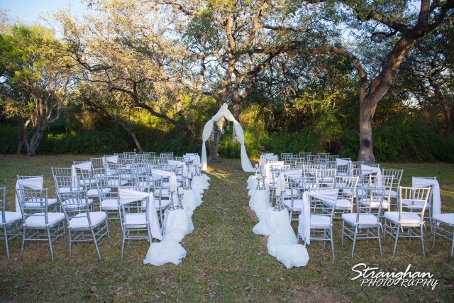 Ceremony site at the Veranda