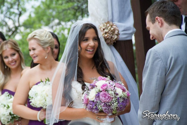 Stephanie wedding Spring Hill Event Center bride laughing