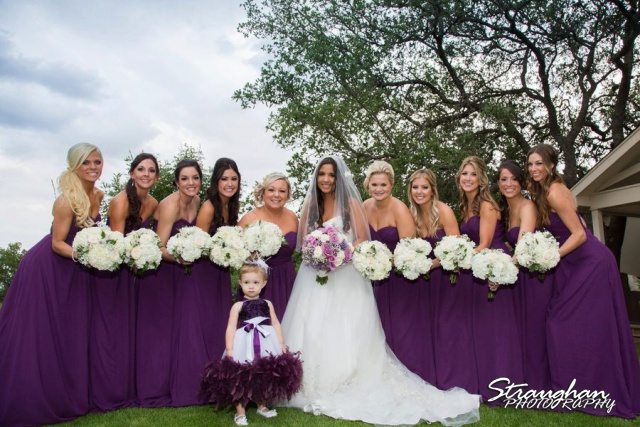 Stephanie wedding Spring Hill Event Center bridesmaids sky