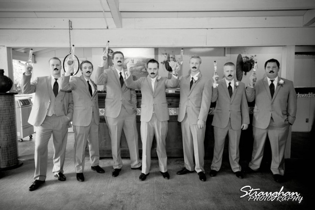 Stephanie wedding Spring Hill Event Center groomsmen mustache