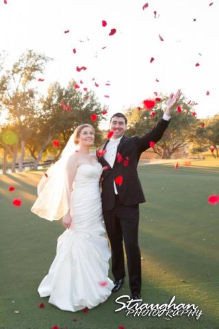 Ashlie wedding Club at Sonterra rose petal rain