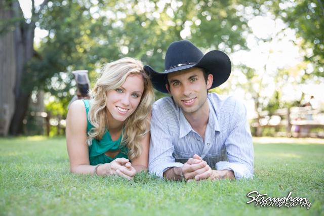 will engagement Gruene laying on the ground looking