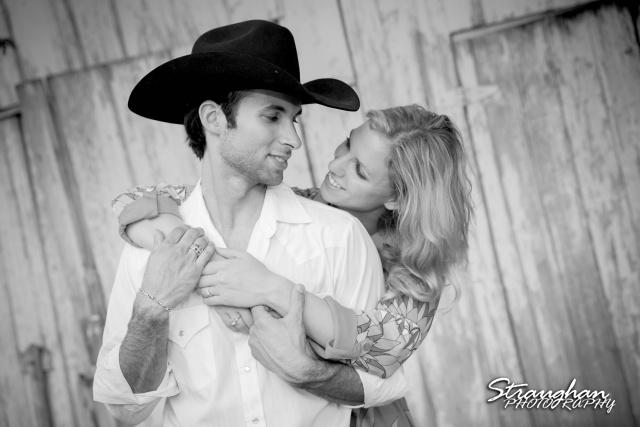 will engagement Gruene cowboy hat bw