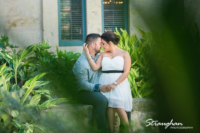 engagement photo from the bushes
