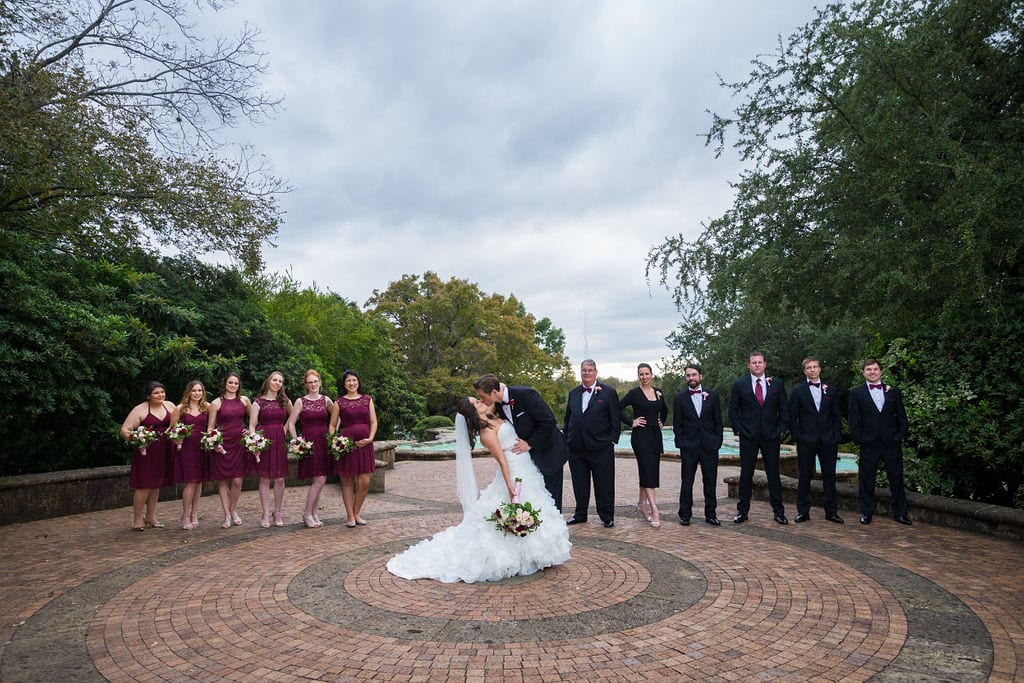 Ashley and Josh's wedding the McNay Bridal party dip