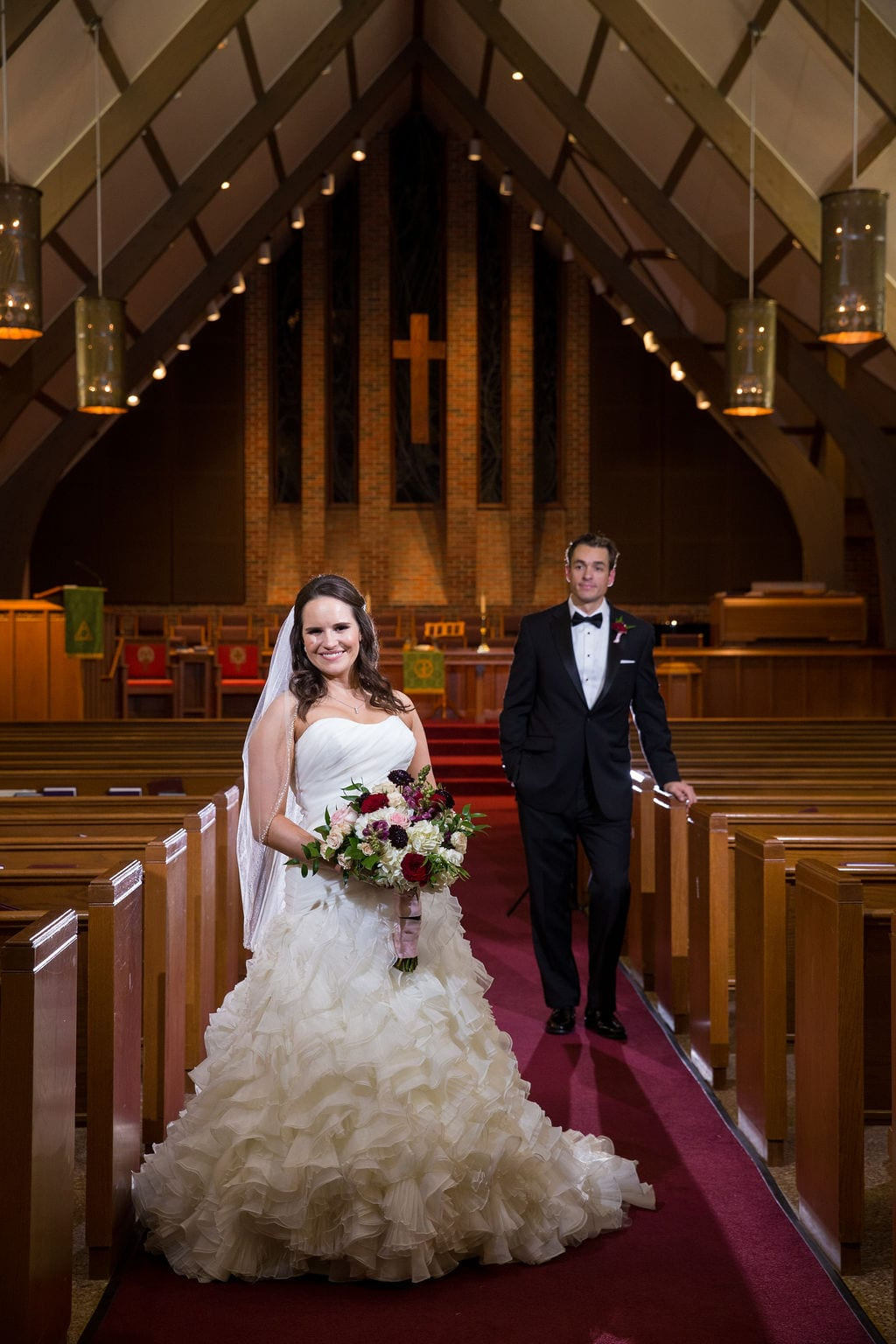 Ashley and Josh's wedding church portrait2