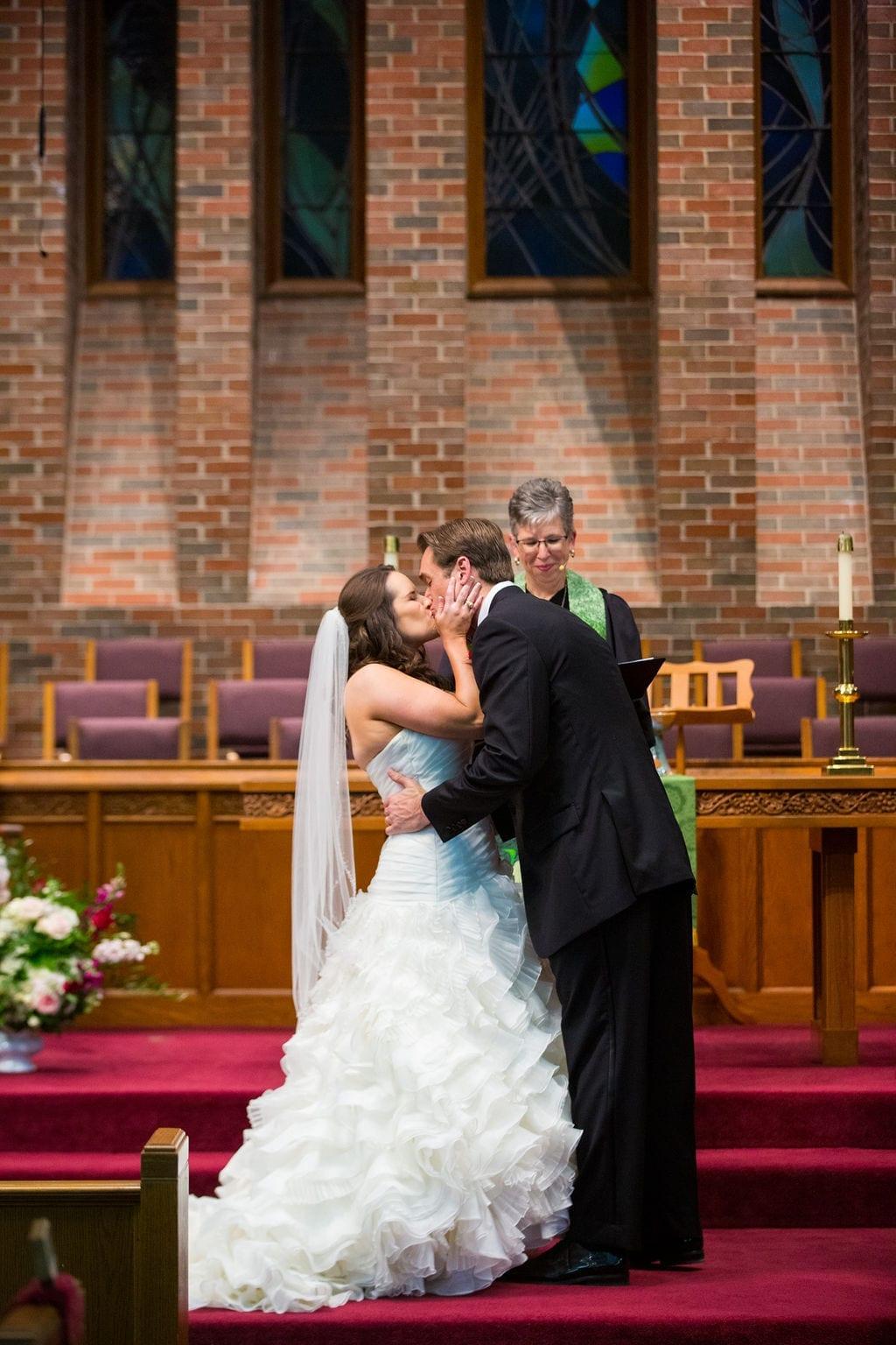 Ashley - Josh's wedding ceremony kiss