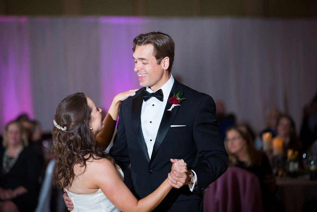 Ashley - Josh's wedding reception first dance close up
