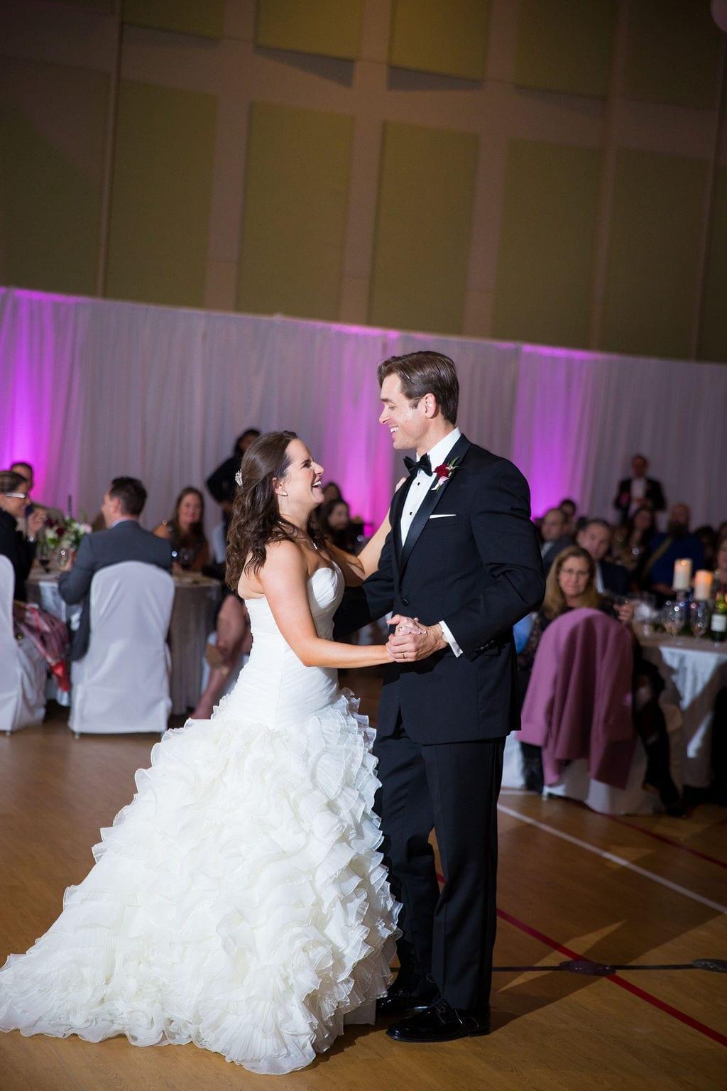 Ashley - Josh's wedding reception first dance laughing