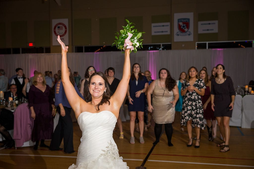 Ashley - Josh's wedding bouquet toss