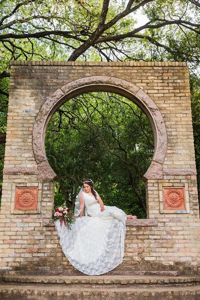 Andrea bridal key hole wall zilker park Austin