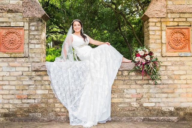 Andrea bridal session gazebo zilker park Austin