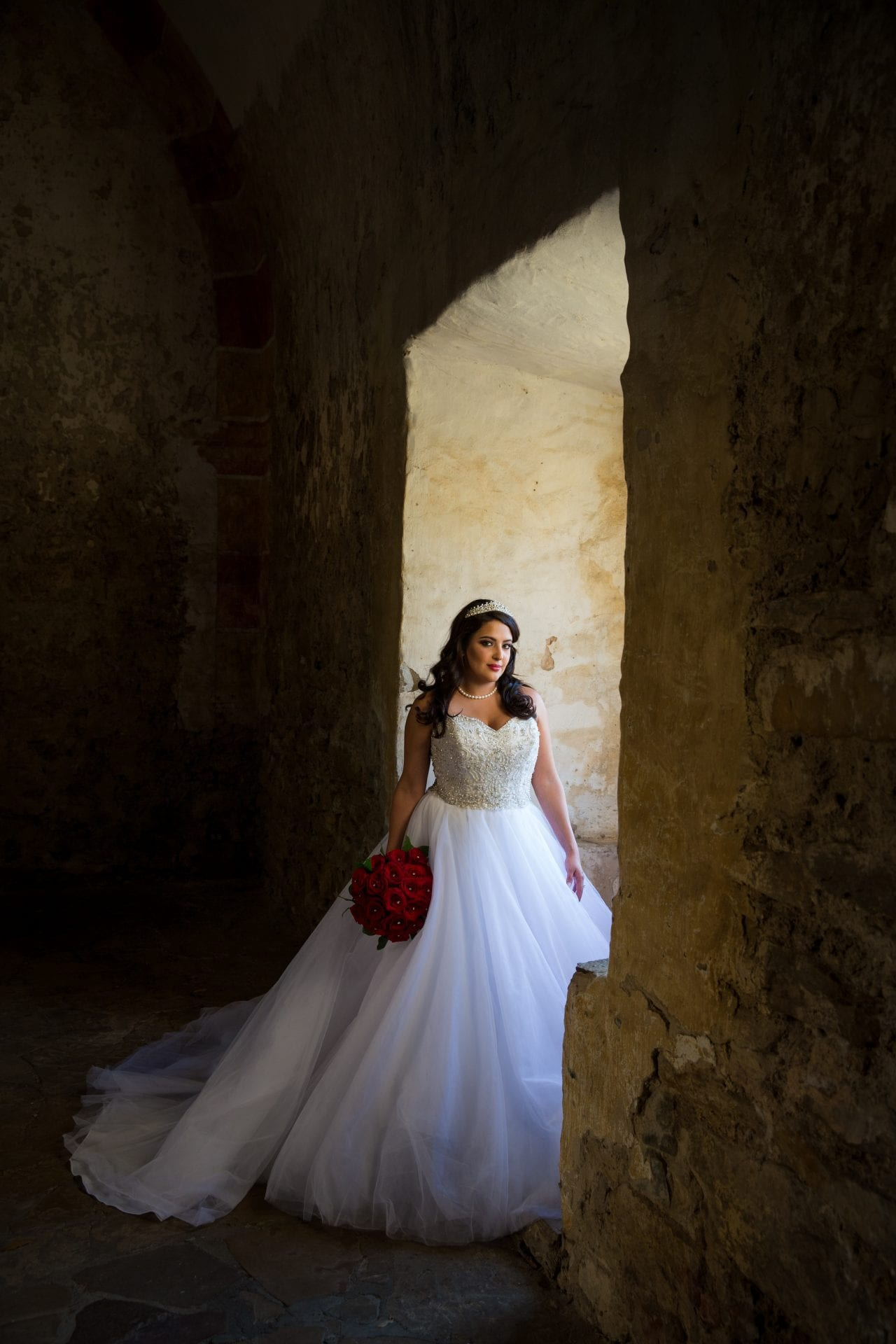 Erika Bridal at mission SanJose