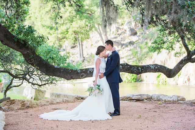 Samantha Wedding Hidden Falls couple by the tree