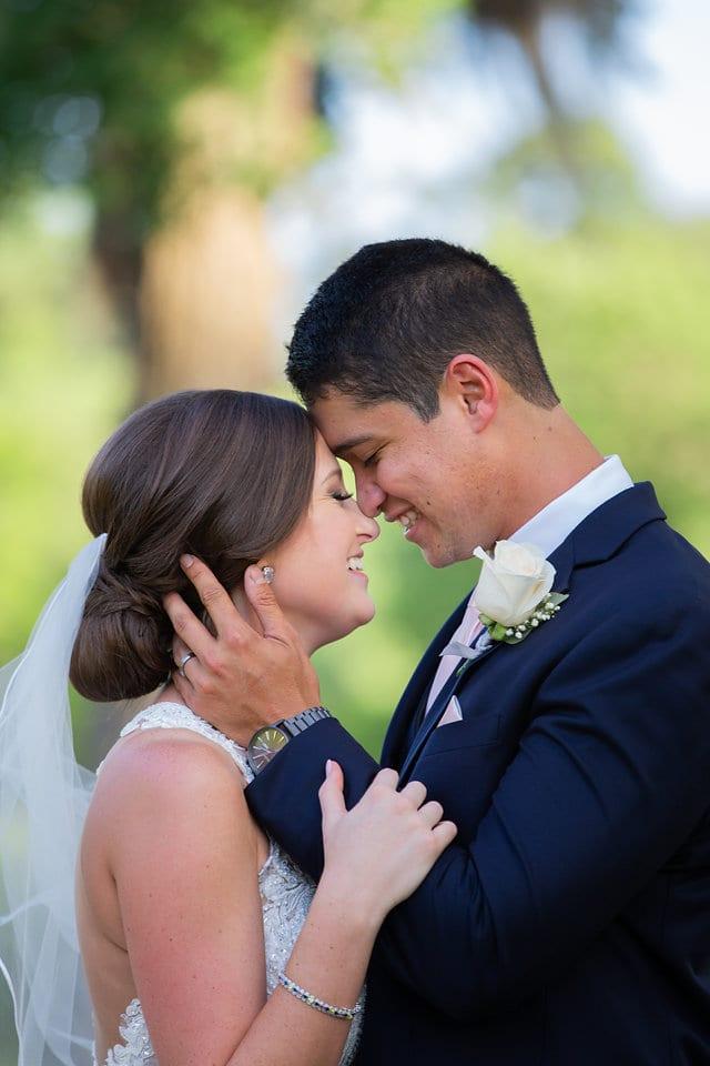 Samantha Wedding Hidden Falls close up of coulpe