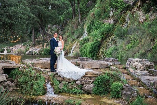 Samantha Wedding Hidden Falls bottom of falls