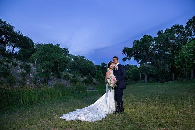Samantha Wedding Hidden Falls sunset photo