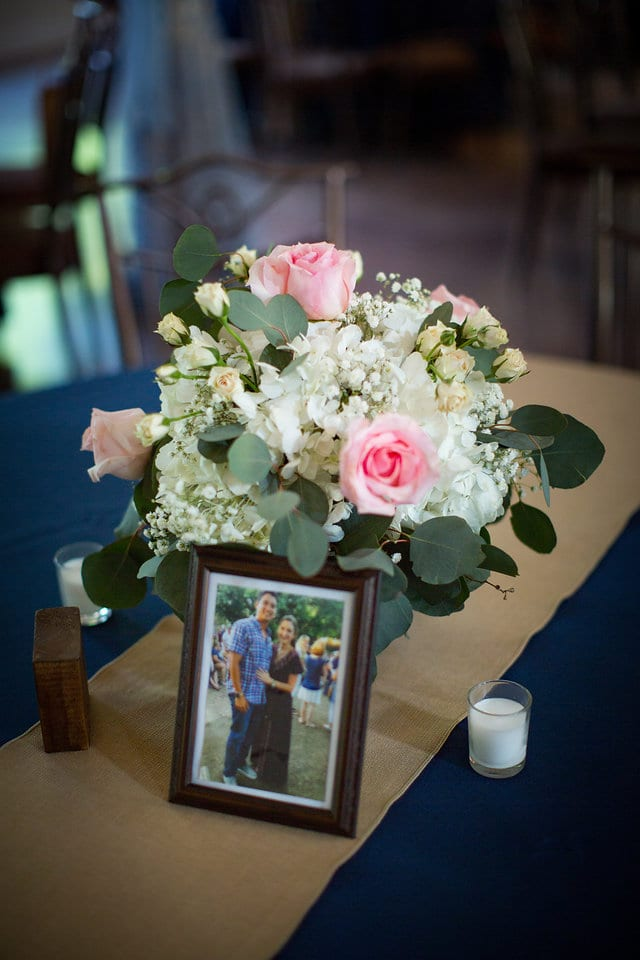 Samantha Wedding Hidden Falls photo centerpiece