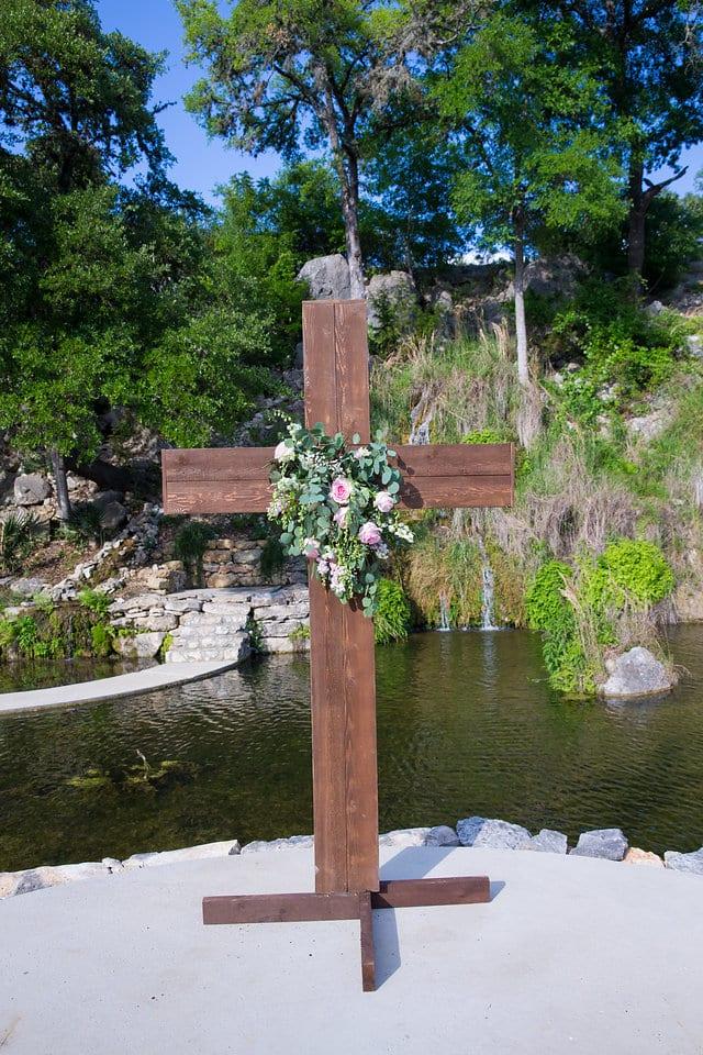 Samantha Wedding Hidden Falls cross