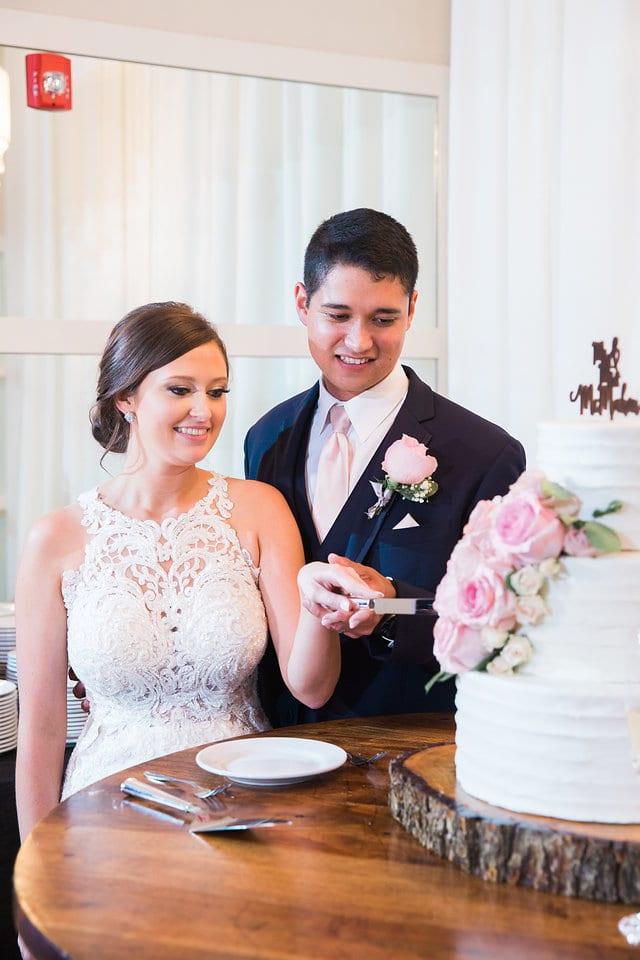 Samantha Wedding Hidden Falls cake cutting